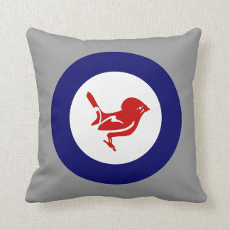 Tomtit roundel | New Zealand Bird Throw Pillow