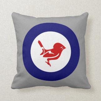Tomtit roundel | New Zealand Bird Throw Pillow