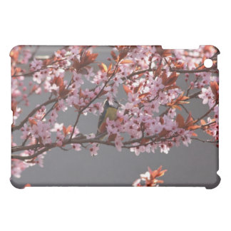 tomtit sitting in blooming cherry plum tree iPad mini covers