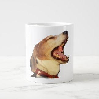 TomTom the yawning sleepy Beagle 20 Oz Large Ceramic Coffee Mug