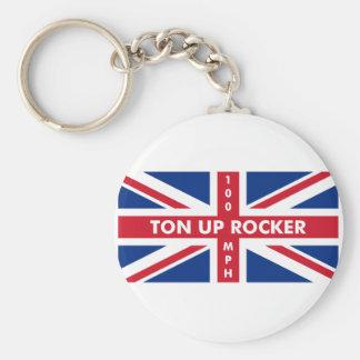 Ton Up Rocker Keychain