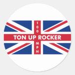 Ton Up Rocker Sticker
