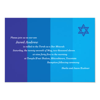 Tonal Blue Bar Mitzvah Invitation