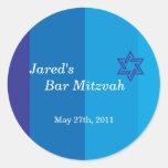 Tonal Blue Bar Mitzvah Sticker