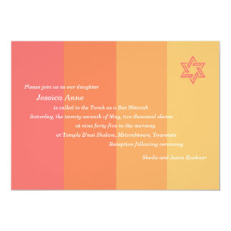 Tonal Citrus Bat Mitzvah invitation