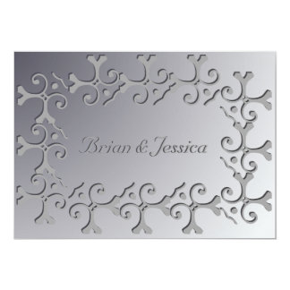 Tonal Elegance Silver Custom Wedding Invitation