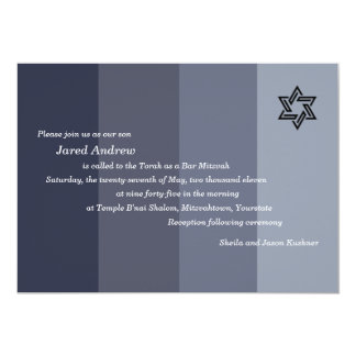 Tonal Grey Bar Mitzvah Custom Invite