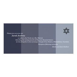 Tonal Grey Bar Mitzvah Invitation