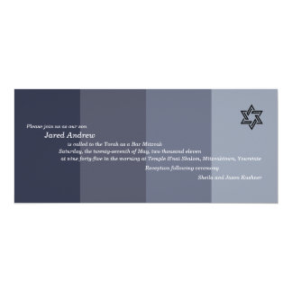Tonal Grey Bar Mitzvah Invitation
