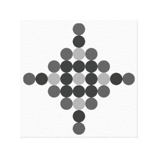 Tonal Grey Geometric Abstract Canvas Print