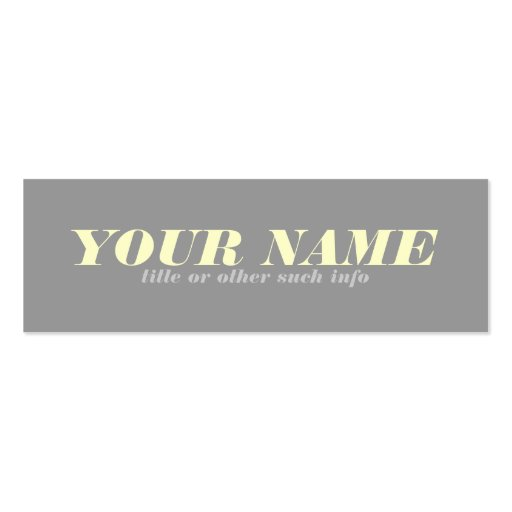 Tonal Neutral Calling Card Business Cards