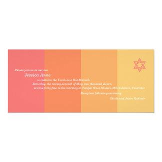 Tonal Orange Bat Mitzvah invitation