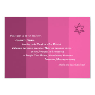 Tonal Rose Bat Mitzvah Invitation