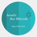 Tonal Seagreen Bar Mitzvah sticker