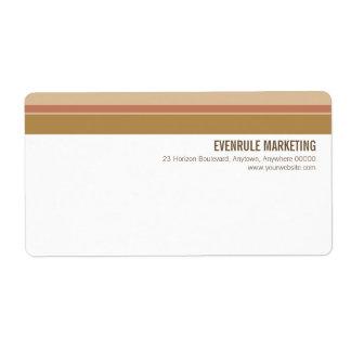 Tonal Stripes Shipping Label