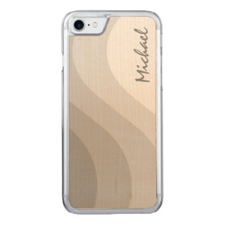 Tonal Wave Gray Striped Carved iPhone 7 Case