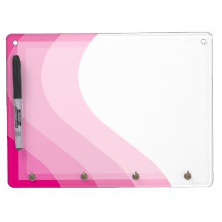 Tonal Wave Pink Striped Dry Erase Board With Keychain Holder