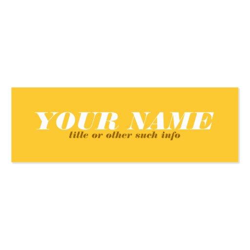 Tonal Yellow Ochre Calling Card Business Card Template