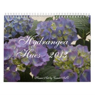 Tonalidades 2013 del Hydrangea Calendario De Pared