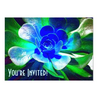 Tonalidades de azules invitación 12,7 x 17,8 cm