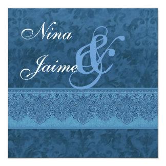 Tonalidades de la invitación azul E403 del boda