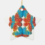 Tonalidades de la mariposa ornamento para arbol de navidad