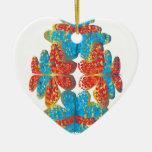 Tonalidades de la mariposa ornaments para arbol de navidad