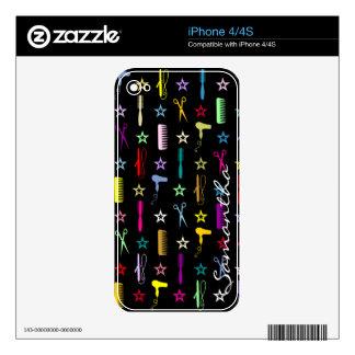 Tonalidades elegantes - piel de encargo del iPhone Calcomanías Para iPhone 4S