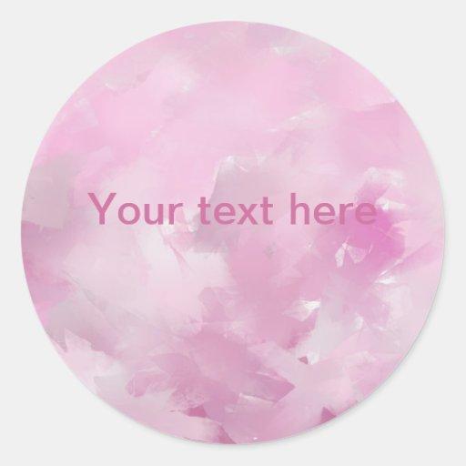 Tonalidades rosadas pegatina redonda