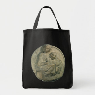 Tondo Pitti; Madonna and Child by Michelangelo Canvas Bag