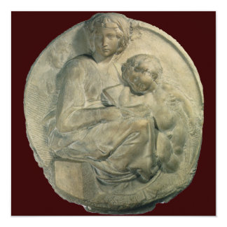 Tondo Pitti; Madonna and Child by Michelangelo Custom Invitations