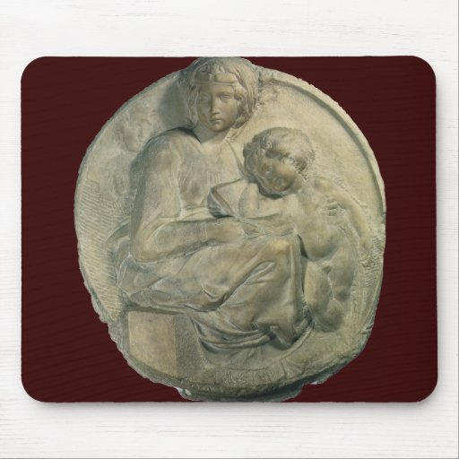 Tondo Pitti; Madonna and Child by Michelangelo Mousepads