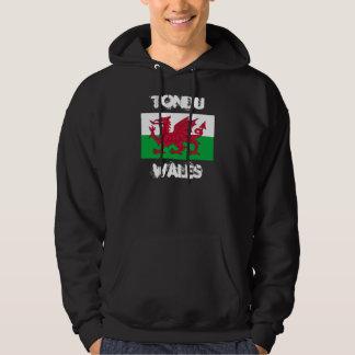 Tondu, Wales with Welsh flag Hoody