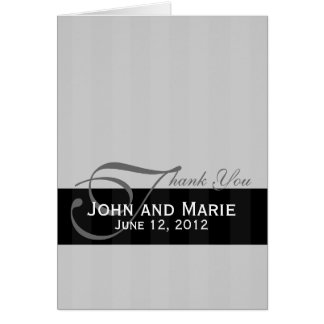 Tone on Tone Black and Gray Stripe Card