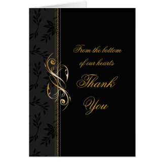 Tone on Tone Black Floral Card