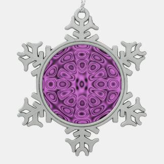 Tone on Tone Purple Diffraction Illusion Ornaments