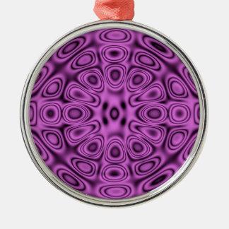 Tone on Tone Purple Diffraction Illusion Christmas Tree Ornaments