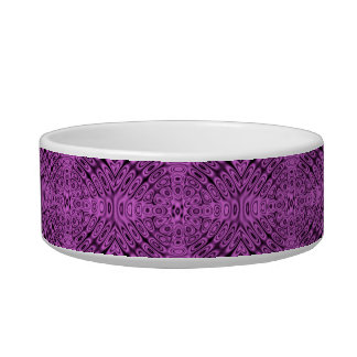 Tone on Tone Purple Diffraction Illusion Cat Food Bowls