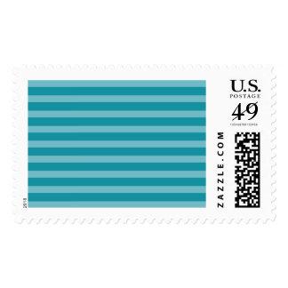 Tone on Tone Turquoise Aqua Stripes Pattern Postage