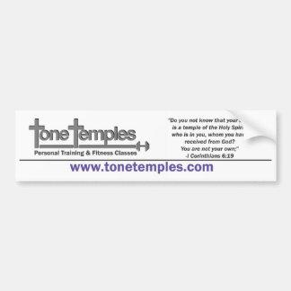 Tone Temples Bumper Sticker