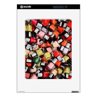 Toneladas de botellas del esmalte de uñas iPad calcomanías