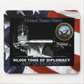 Toneladas de la marina de guerra de diplomacia tapete de ratón