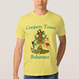 Toneleros ciudad, Bahamas con el escudo de armas Poleras
