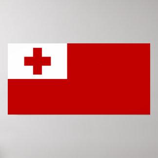 Tonga - bandera tongana póster