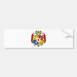 Tonga Coat of Arms Car Bumper Sticker