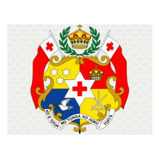 Tonga Coat of Arms detail Postcard