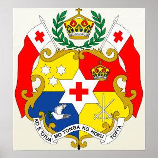 Tonga Coat of Arms detail Poster