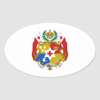 Tonga Coat of Arms Oval Sticker