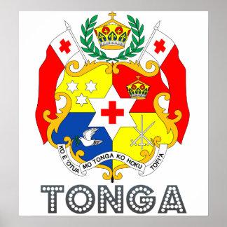 Tonga Coat of Arms Poster