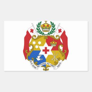 Tonga Coat of Arms Rectangular Sticker